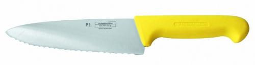 Нож поварской с волнистым лезвием, желтый L=20 см