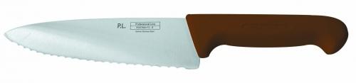 Нож поварской с волнистым лезвием, коричневый L=20 см