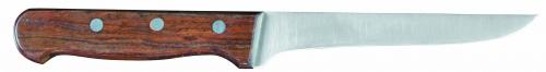 Нож обвалочный с дерерянной ручкой L=15 см