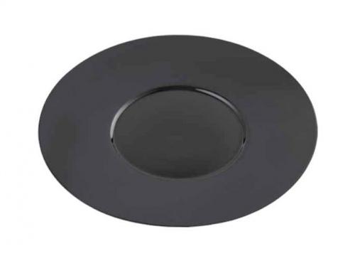 """Тарелка кругл. """"Glossy-Black"""" 26см"""