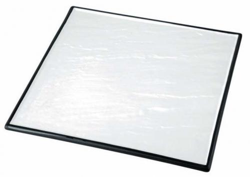 Блюдо квадратное фарфоровое с черным основанием «Sunnex»  30х30 см