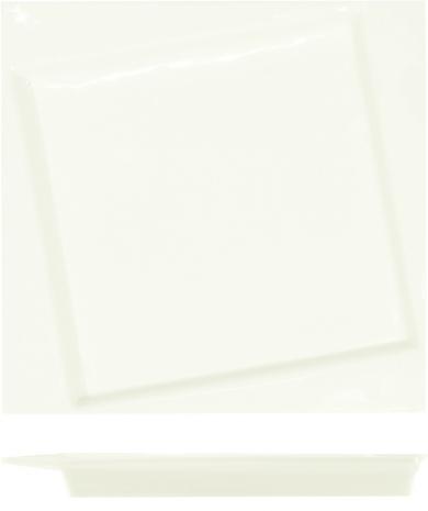 Тарелка квадратная со смещенным центром Kunst Werk 25см