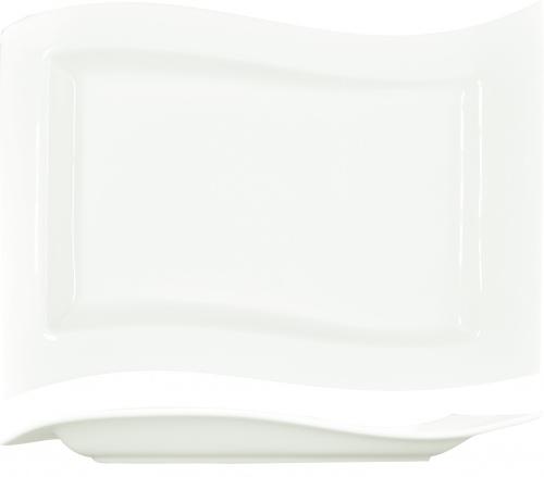 Блюдо прямоугольное «Волна» Kunst Werk L=24/16cм