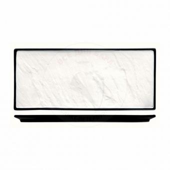 Блюдо прямоугольное фарфоровое с черным основанием «Sunnex» L/W= 36/25,5 см