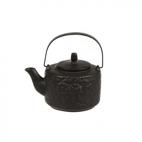Чайник фарфоровый с металлическим ситом Black Star, 750 мл